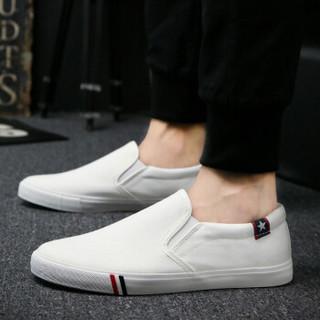 Nan ji ren 南极人 17100NJ6601 男士帆布鞋 白色 41码