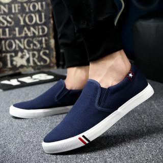 Nan ji ren 南极人 17100NJ6601 男士帆布鞋 蓝色 42码
