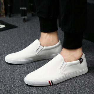 Nan ji ren 南极人 17100NJ6601 男士帆布鞋 白色 39码