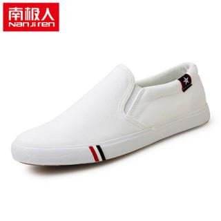Nan ji ren 南极人 17100NJ6601 男士帆布鞋 白色 43码