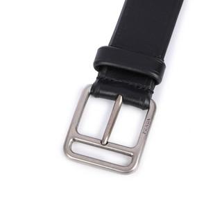 PRADA 普拉达 2CS063 908 F0002 男士黑色针扣皮带腰带