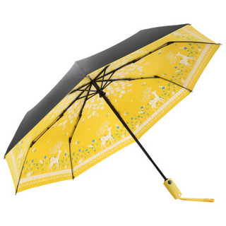 MAYDU 美度 Black系列 M3331 小黑伞 女士三折防晒遮阳伞