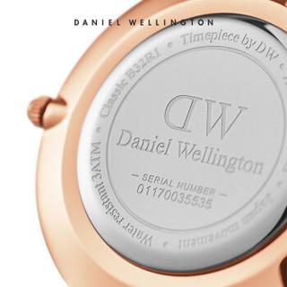 DanielWellington 丹尼尔惠灵顿 DW00100161 女士时装石英表 金色钢带 黑盘金边