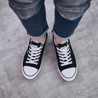 WARRIOR 回力 WXY45 中性帆布鞋 黑色 40码