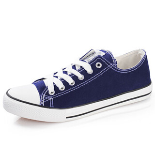 WARRIOR 回力 WXY391 中性款帆布鞋 深蓝 40码