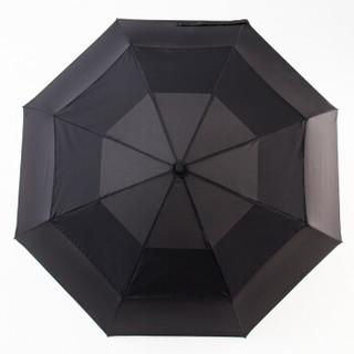 美度(MAYDU)双层防风晴雨伞全自动三折男士商务雨伞 M3118黑色