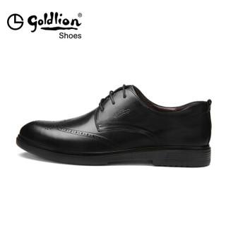 goldlion 金利来 男士商务百搭皮鞋 黑色 41码
