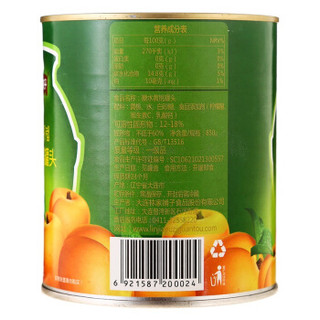 林家铺子 糖水黄桃水果罐头 850g