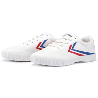 FEI YUE 飞跃 8102 中性帆布鞋 红蓝白 34码