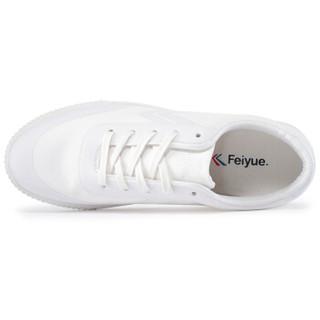FEI YUE 飞跃 8102 中性帆布鞋 纯白 38码