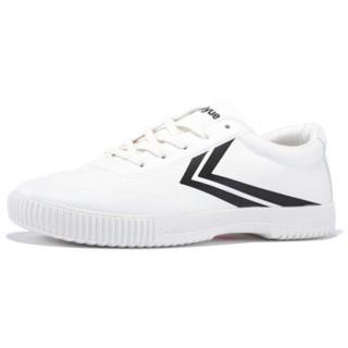 FEI YUE 飞跃 8102 中性帆布鞋 白黑 42码
