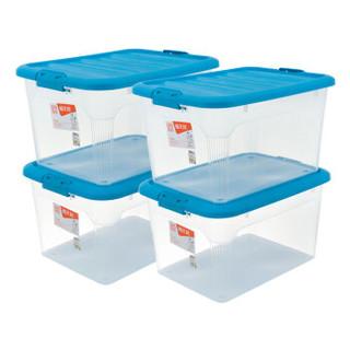 Citylong 禧天龙 塑料收纳箱 55L 透明蓝