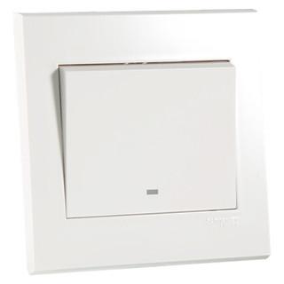 Schneider Electric 施耐德 优意系列 带荧光指示单控开关 白色