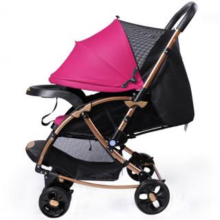 宝宝好 c3 双向婴儿推车 暗紫