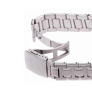 SEIKO 精工 Premier系列 SUR015J1 男士石英表 黑色表盘 不锈钢表带