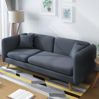 A家家具 ADS-025A 可拆洗小户型沙发 三人位灰黑色