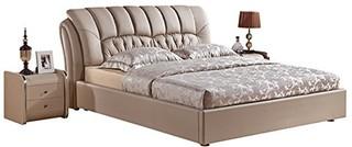 诺曼迪诗 真皮整体床 双人1.8*2米