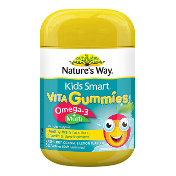 Nature's Way 佳思敏 omega3+复合维生素软糖 50粒