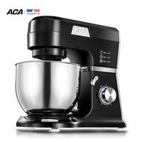 ACA 北美电器 ASM-DA600 多功能厨师机 黑色/银色