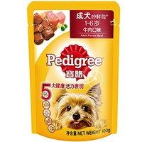 Pedigree 宝路 成犬 妙鲜包 牛肉口味 100g*12