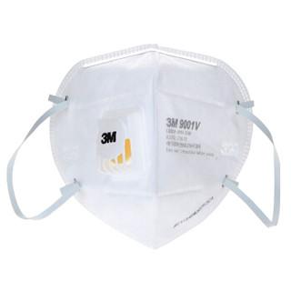 3M 9001V KN90 折叠式带呼气阀防护口罩 25只