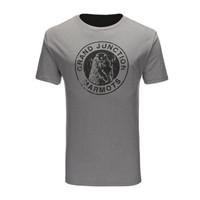 Marmot 土拨鼠 男士运动T恤 Q54200 灰白 S