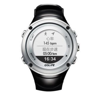 GOLiFE Xpro户外运动GPS智能手表动态心率表男士登山跑步来电微信显示提醒 发丝银