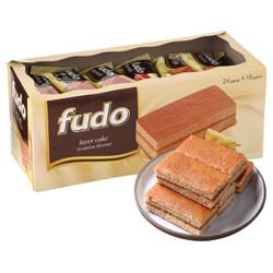 马来西亚进口 福多(fudo)蛋糕 提拉米苏味 432g(内装24枚) 休闲零食 糕点小吃 新老包装随机发货 *3件