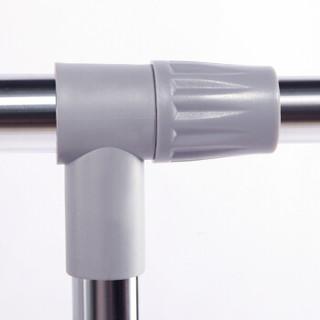 心家宜 双杆伸缩落地晾衣架 可移动晒衣架 GX-5126S