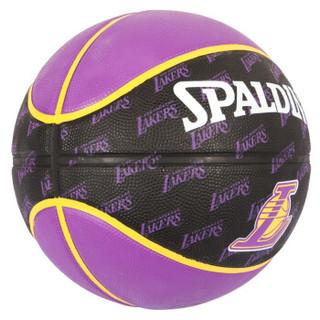 SPALDING 斯伯丁 73-943Y 湖人队队徽系列 胶篮球* 2个