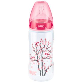 NUK 宽口径PP奶瓶 300ml 红色