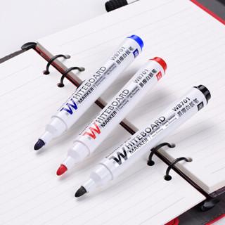 Comix 齐心 WB701 白板笔 (12支装、黑色)