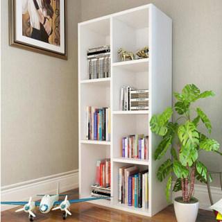雅美乐 Y4381 七格板式收纳柜子 经典白