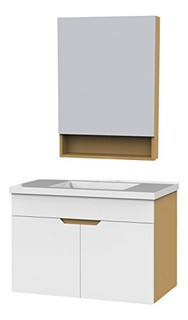 ENZO RODI 贝朗安住 白色烤漆面多层实木浴室柜  800mm宽