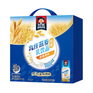 QUAKER 桂格 高纤燕麦乳 麦香原味(利乐)250ml*12包 礼盒装