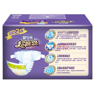Anerle 安儿乐 超能吸2代 婴儿纸尿裤 L108片