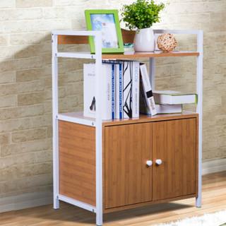 家莱美 JLM15-6201 三层金属带门置物架书架书柜 竹纹色