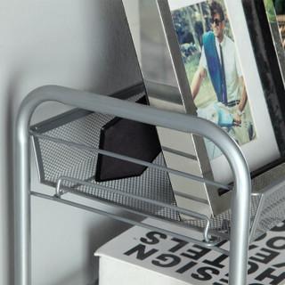 心家宜 可移动推车置物架 5层 银灰色