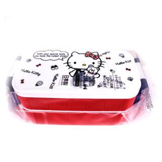 SKATER 斯凯达 hello kitty 双层饭盒+筷子 600ml