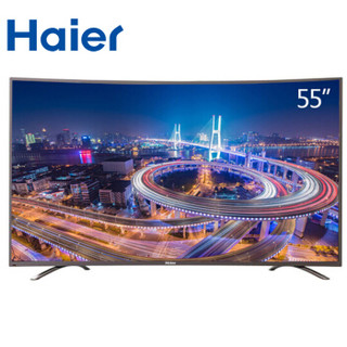 Haier 海尔 LS55U71 55英寸 4K曲面 智能液晶电视