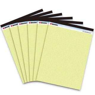 凯萨(KAISA)拍纸簿方格拍纸本Legalpad美式记事本A4(216x298mm) 6本装 V-00270