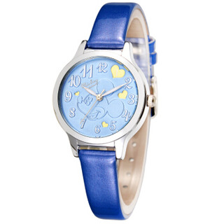 迪士尼(DISNEY)儿童手表 可爱学生夜光石英电子表 冰雪奇缘粉色女孩手表 54166J