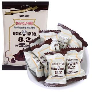 悠哈(UHA)送礼年货零食糖果 特浓巧克力牛奶糖 120g