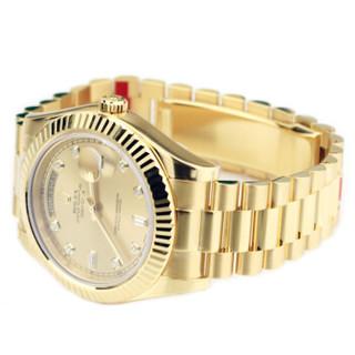 ROLEX 劳力士 星期日历型系列 自动机械男表 218238-83218黄金盘面钻石