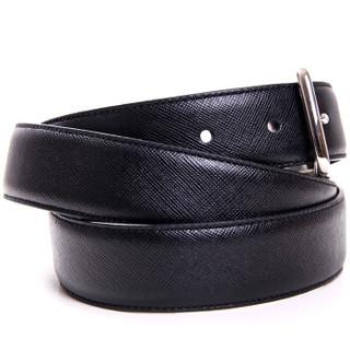 COACH 蔻驰 F66916 SBKMA  男款黑色皮革针扣腰带