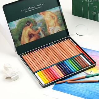 MARCO 马可 3120-24TN 雷诺阿系列 24色 水溶性 彩色铅笔 铁盒装