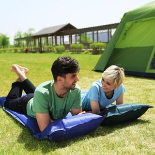 康尔 KingCamp 户外垫子睡垫自动充气垫防潮垫 露营野餐休闲防滑垫 带枕头可拼接 单人 KM3505酒红色