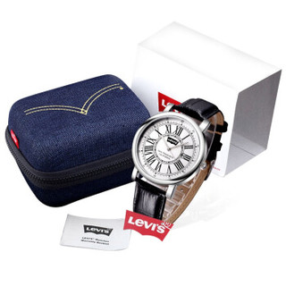 Levi's 李维斯 时尚复古系列 LTH1801 男士时尚石英表 白盘 黑带