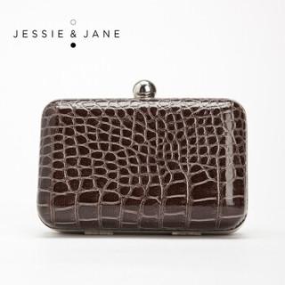 JESSIE&JANE 及简 JJWBD111121146F 复古鳄鱼纹时尚手拿包