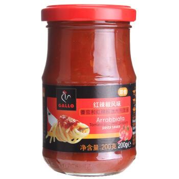 西班牙进口 公鸡(GALLO)红辣椒风味意粉酱200g 意大利面酱调味酱